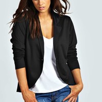 Astrella One Button Ponte Blazer