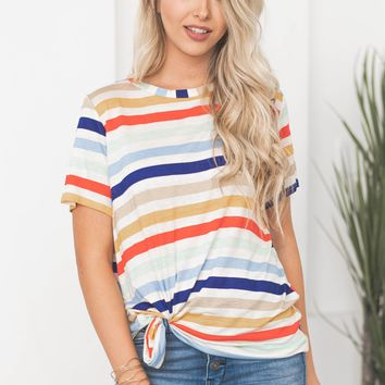 Emma Color Striped Top