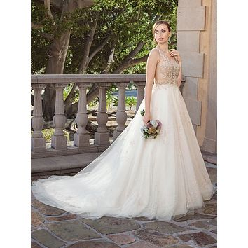 Casablanca 2316 Sable Drop Waist Full A-Line Wedding Dress