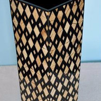 Diamond Contemporary Coconut Vase