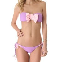 Lolli Cherry Bomb Bow Bandeau Bikini Top | SHOPBOP Save 20% with Code WEAREFAMILY13