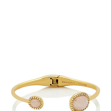 Kate Spade Park & Lex Cuff Rose Quartz ONE