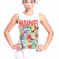 MARVEL CUT OFF TEE