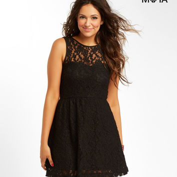 Aeropostale  Floral Lace Dress - Black, X-Small