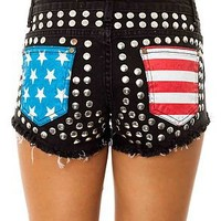 Reverse Shorts American Pocket in Black