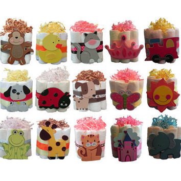 Mini Diaper Cakes  Unique Baby Shower Gift by BabyBinkz on Etsy
