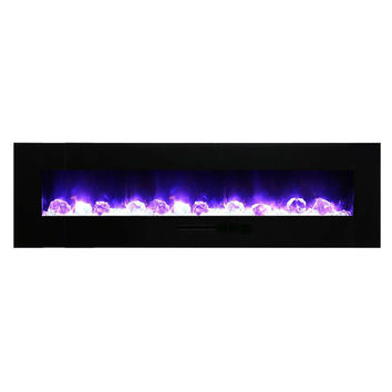 "Amantii 81"" Built-in / Wall Mounted Electric Fireplace (WM-FM-72-8123-BG)"