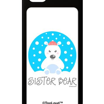 Matching Polar Bear Family - Sister Bear iPhone 5 / 5S Grip Case  by TooLoud