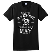 Only the awesome people are born in May t shirt, birthday tshirt, gift ideas, born in May gift, gemini t shirt