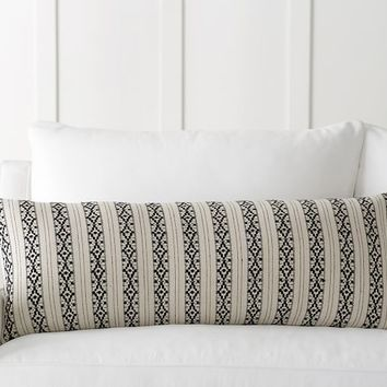 ARIANA STRIPE JACQUARD PILLOW COVER