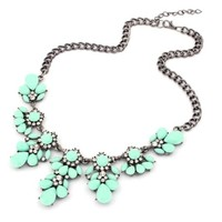 amtonseeshop(TM) Latest Popular 1PC Vintage Flower Crystal Bubble Bib Choker Statement Women Necklace