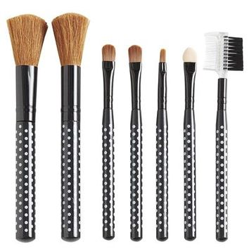 Polka Dotted Make Up Brushes