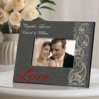 Paisley Love Picture Frame ~ Personalized