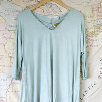 Always On the Move Criss Cross Top, Mint