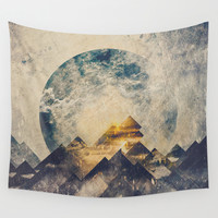 One mountain at a time Wall Tapestry by HappyMelvin