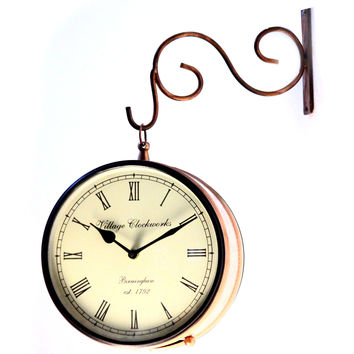 Aakashi Copper/Brass/Nickel Railway Clock