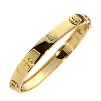 Chanel Camellia Gold DIamond Bangle