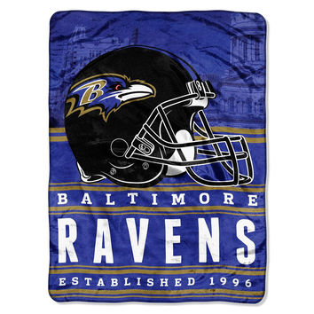Baltimore Ravens NFL Silk Touch Throw (Stacked Series) (60inx80in)