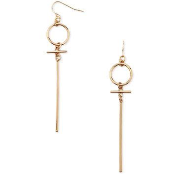 Drop Matchstick Hoop Earrings
