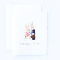 Happy Father's Day Bunny Card