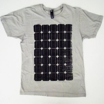 Solar Panel T Shirt S M L XL alternative energy green