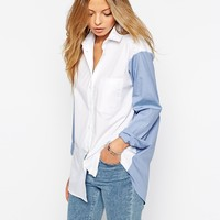 ASOS Colour Block Boyfriend Shirt