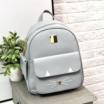 Cat Whiskers and Ears Backpack