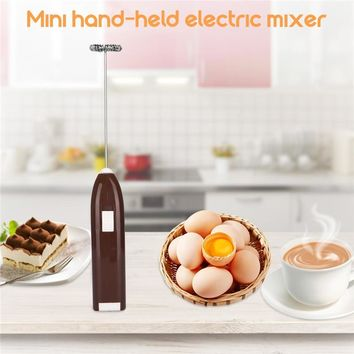 Milk Drink Coffee Whisk Mixer Electric Egg Beater Frother Foamer Mini Handhold Stirrer Blender Kitchen Cooking Tool