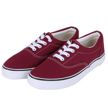 Vans Canvas couple Classics Old Skool Sneaker wine red six color