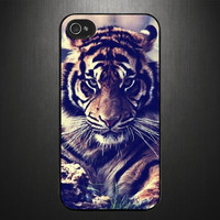 iPhone 4 4s case iPhone 4 4s cover Tiger by CaseBasement on Etsy