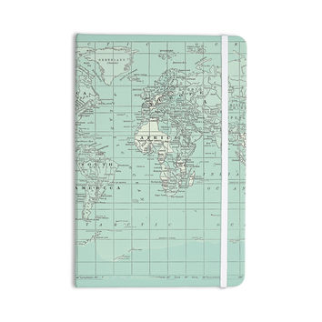 """Catherine Holcombe """"The Old World"""" Blue Teal Everything Notebook"""