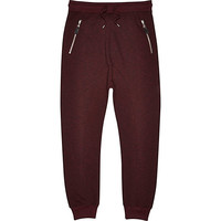 River Island MensRed drop crotch slub joggers