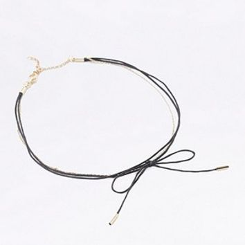 Bow and Chain Choker Necklace - Urban Outfitters