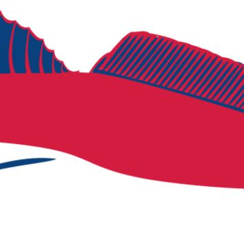 Redfish Car Decal Stickers in Red & Navy Blue Colors