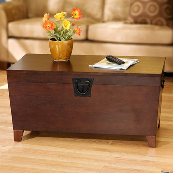 Wildon Home ® Cascade Trunk Coffee Table with Lift-Top
