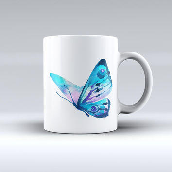 The Bright Graceful Butterfly ink-Fuzed Ceramic Coffee Mug