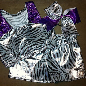 spandex cheer outfit spankies sports bra and by LeBow1cheerbows