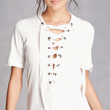Kikiriki Lace-Up Tee