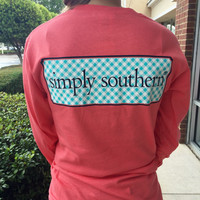 "Simply Southern ""The Classic"" Long Sleeve - Coral"