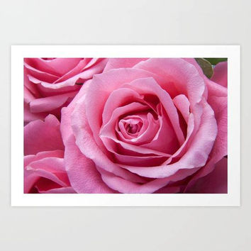 Pink Rose Art Print, Pink Flowers Wall Art, Pink Floral Art Print, Flower Photography Art Print, Romantic Wall Art, Pink Bedroom Art Print