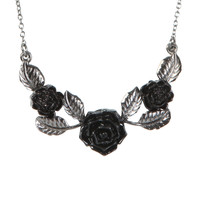 LOVEsick Rose And Leaf Necklace