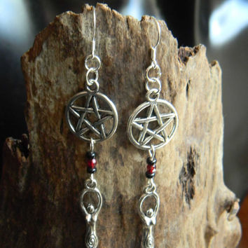 Wiccan Goddess Earrings