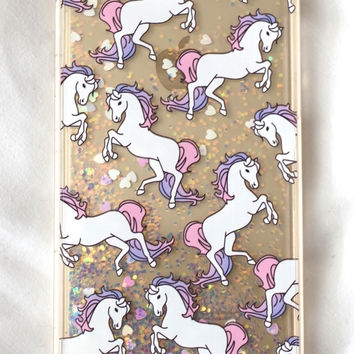 Unicorn Vomit Glitter iPhone Case