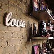 love wood sign love handmade from recycled wood by WilliamDohman