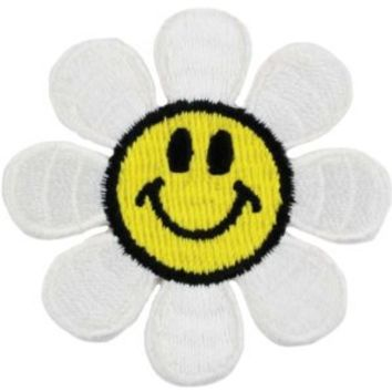 Iron-On Appliques-Daisy Smiley Face 1/Pkg