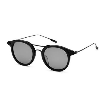 SALT. Taft Round Polarized Sunglasses, Black
