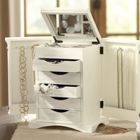 Ultimate Jewelry Box, White