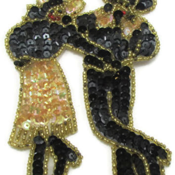 "Dancing Couple doing Country Line Dance 5"" x 3"""