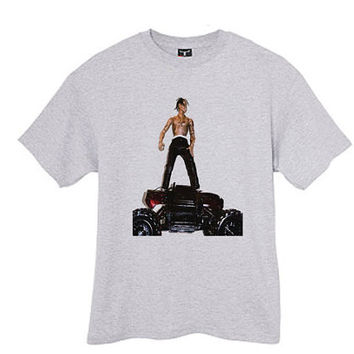 Travis scott rodeo ferg rocky travis scott kanye west rap tshirt tee shirt ash grey