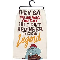What You Eat Dish Towel with Funny Cool Elephant